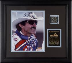 Richard Petty Framed Photo with Piece of Daytona Track