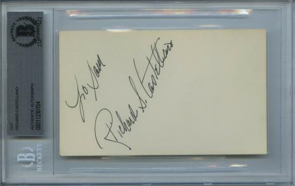 Richard S. Castellano Signed Card The Godfather Rare Encapsulated Beckett Bas