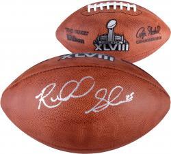 Richard Sherman Seattle Seahawks Super Bowl XLVIII Champions Autographed Super Bowl Logo Duke Pro Football