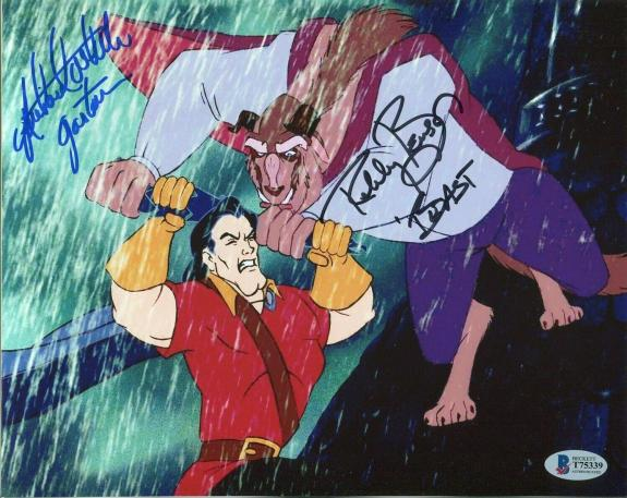 Richard White & Robby Benson Beauty And The Beast Signed Autograph Photo BAS