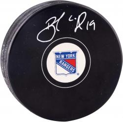 Brad Richards New York Rangers Autographed Hockey Puck - Mounted Memories