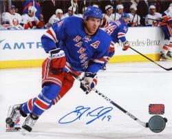 "Brad Richards New York Rangers Autographed 8"" x 10"" Skating Blue Uniform Photograph"