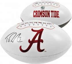 Autographed Trent Richardson Football - Crimson Tide Logo Mounted Memories
