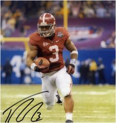 Trent Richardson Alabama Crimson Tide Autographed 8'' x 10'' BCS Bowl Photograph - Mounted Memories