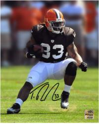 Trent Richardson Cleveland Browns Autographed 8'' x 10'' Action Pose Photograph - Mounted Memories