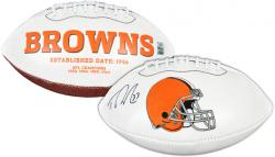Trent Richardson Cleveland Browns Autographed White Panel Logo Football