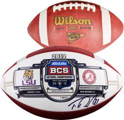 Trent Richardson Alabama Crimson Tide Autographed NCAA Game Football