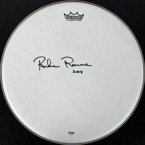 Richie Ramone The Ramones Signed 15 Inch Drumhead PSA/DNA #AB40586