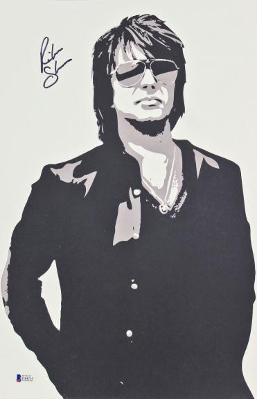 Richie Sambora Bon Jovi Signed 11x17 Lithograph BAS #E44253