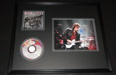 Richie Sambora Signed Framed Bon Jovi Slippery When Wet CD & Photo Display AW