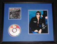 Richie Sambora Signed Framed Bon Jovi Slippery When Wet CD & Photo Display JSA B