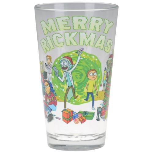 Rick and Morty Merry Rickmas Pint Glass