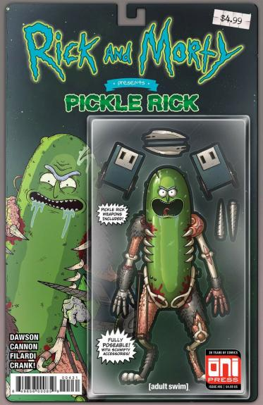 Rick And Morty Presents Pickle Rick 1 Oni Mike Vasquez Action Figure Variant