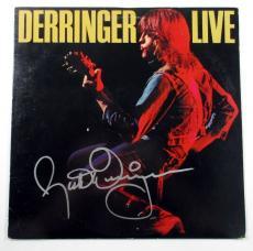 Rick Derringer Signed LP Record Album Live w/ AUTO