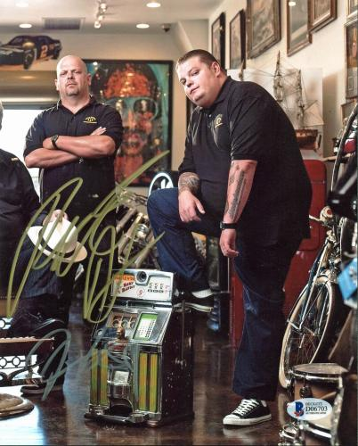 Rick Harrison & Corey Harrison Pawn Stars Signed 8x10 Photo BAS D06703