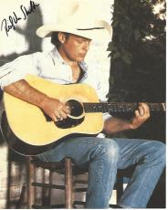 """RICKY VAN SHELTON (COUNTRY SINGER) Hits Include """"KEEP IT BETWEEN the LINES"""", """"SOMEBODY LIED"""", and """"FROM A JACK to A KING"""" Signed 8x10 Magazine Sheet"""