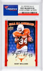 Ricky Williams Autographed University Of Texas Longhorns 2011 Upper Deck #AA-WI Card