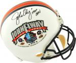 Riddell John Elway Denver Broncos Autographed Hall of Fame Full-Size Replica Helmet - White - Mounted Memories