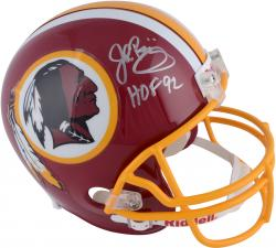 John Riggins Washington Redskins Autographed Riddell Replica Helmet with HOF 92 Inscription - Mounted Memories