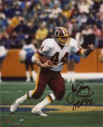 "John Riggins Washington Redskins Autographed 8"" x 10"" Run Photograph with HOF 1992 Inscription"