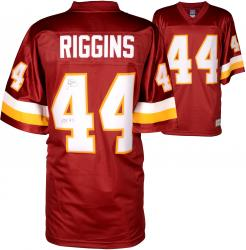 John Riggins Washington Redskins Autographed Pro Line Burgundy Jersey with HOF 92 Inscription