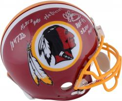 John Riggins Washington Redskins Autographed Riddell Pro-Line Authentic Helmet with Multiple Inscriptions-#1 of a Limited Edition of 44