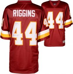 John Riggins Washington Redskins Autographed Pro Line Burgundy Jersey with SB XVII MVP Inscription