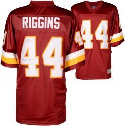 John Riggins Washington Redskins Autographed Pro Line Burgundy Jersey with SB XVII MVP Inscription