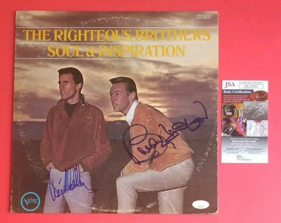Righteous Brothers Lp Album Signed By Both Bobby Hatfield & Bill Medley Jsa Coa