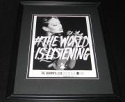 Rihanna 2013 Grammy Awards Framed 8x10 Promotional Advertisement Photo