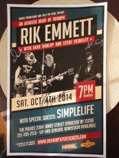RIK EMMETT HAND SIGNED 11x17 POSTER    SIGNED BY WHOLE BAND    RARE      TRIUMPH