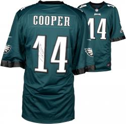 Riley Cooper Philadelphia Eagles Autographed Nike Game Green Jersey