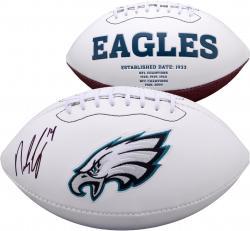 Riley Cooper Philadelphia Eagles Autographed White Panel Football