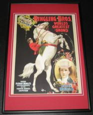 Ringling Brothers Circus Madam Noble Jupiter Framed 10x14 Poster