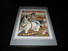 Ringling Brothers Circus May Wirth Framed 10x14 Poster