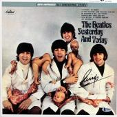 Ringo Starr Beatles Signed Yesterday & Today The Butcher Album Cover BAS #A10827