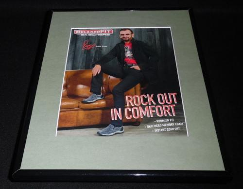 Ringo Starr Facsimile Signed Framed 2015 Skechers 11x14 Advertising Display