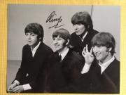 RINGO STARR HAND SIGNED OVERSIZED 11x14 BEATLES PHOTO     RARE   FULL LETTER JSA