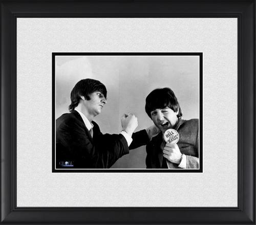 "Ringo Starr & Paul McCartney The Beatles Framed 8"" x 10"" Publicity Photograph"