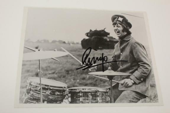 Ringo Starr Signed Autograph 8x10 Photo -the Beatles Drummer & His All Star Band