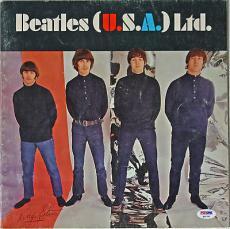 """Ringo Starr Signed """"beatles (u.s.a.) Ltd."""" Concert Program Psa/dna Loa Q02751"""