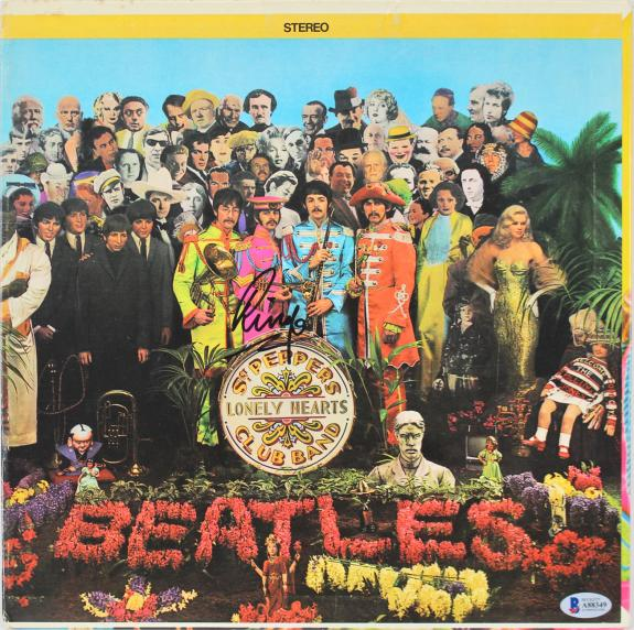 Ringo Starr Signed Sgt. Pepper's Album Cover Autographed BAS #A88349