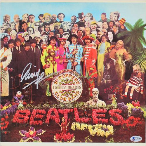 Ringo Starr Signed Sgt. Pepper's Album Cover W/ Vinyl BAS #A88350
