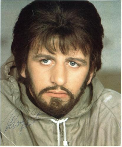 Ringo Starr The Beatles Signed 8x10 Magazine Page JSA #X44595