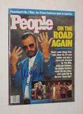 RINGO STARR The BEATLES Signed Autographed PEOPLE MAGAZINE W/ Coa