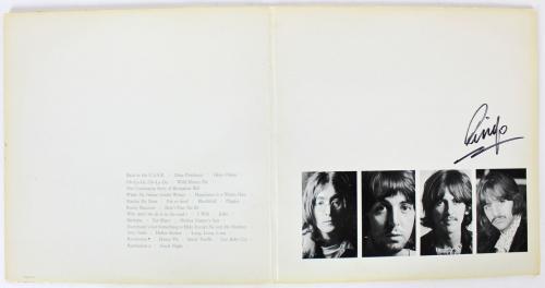 Ringo Starr The Beatles Signed The White Album Album Cover BAS #A70466