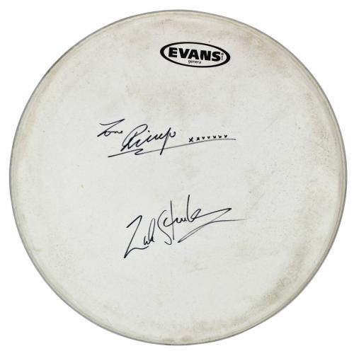 Ringo Starr & Zak Starkey Signed 14 Inch Evans Drum Head REAL & Tracks LOAs