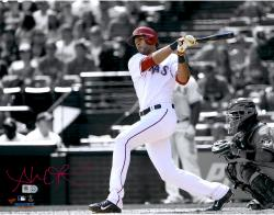 Alex Rios Texas Rangers Autographed 11'' x 14'' Spotlight Photograph - Mounted Memories