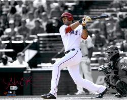"Alex Rios Texas Rangers Autographed 11"" x 14"" Spotlight Photograph"