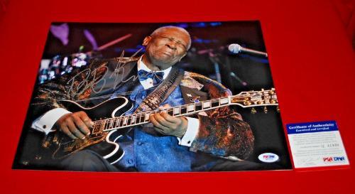 R.I.P. BB KING blues legend signed PSA/DNA 11X14 photo 2
